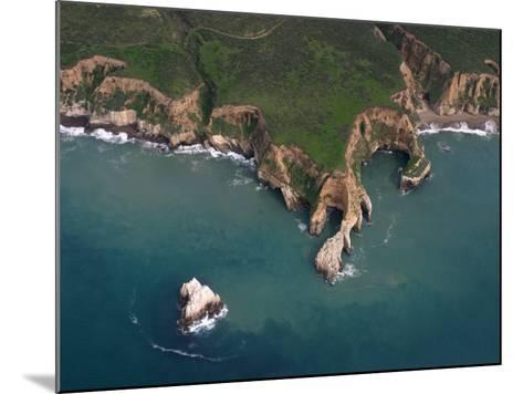 Wave Erosion of a Rocky Headland at Pt. Reyes National Seashore, California, Usa. Note the Seastack-Marli Miller-Mounted Photographic Print