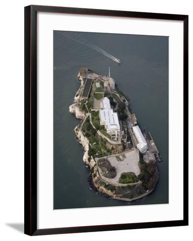 Alcatraz Island and Boat, San Francisco Bay, California-Marli Miller-Framed Art Print