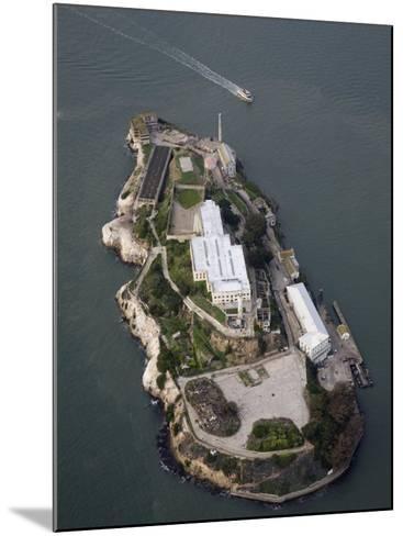 Alcatraz Island and Boat, San Francisco Bay, California-Marli Miller-Mounted Photographic Print