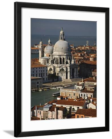 Grand Canal and Santa Maria Della Salute Viewed from the Campanile, Piazza San Marco, Venice, Italy-Adam Jones-Framed Art Print