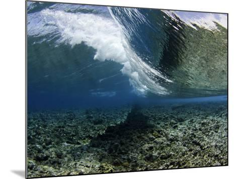 Underwater View of a Wave Crashing over a Coral Reef, Micronesia-David Fleetham-Mounted Photographic Print