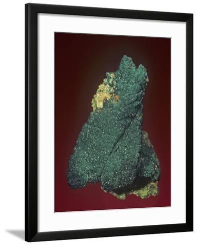 Malachite with Azurite and Quartz, Tsumeb Mine, Namibia, Africa-Mark Schneider-Framed Art Print