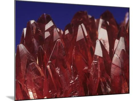 Rhodochrosite Crystals (Mnco3), an Ore of Manganese-Mark Schneider-Mounted Photographic Print