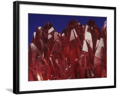 Rhodochrosite Crystals (Mnco3), an Ore of Manganese-Mark Schneider-Framed Art Print