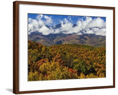 Autumn View of the Southern Appalachian Mountains from the Blue Ridge Parkway, North Carolina, USA-Adam Jones-Framed Art Print
