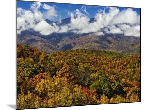 Autumn View of the Southern Appalachian Mountains from the Blue Ridge Parkway, North Carolina, USA-Adam Jones-Mounted Photographic Print