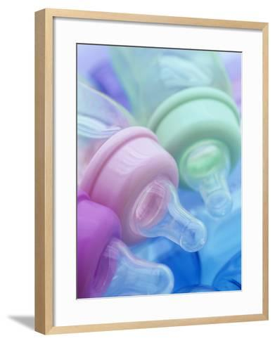 Plastic Baby Bottles, Polycarbonate, Petroleum Product-Wally Eberhart-Framed Art Print