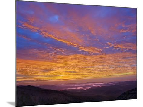 Colorful Clouds at Sunrise over the Southern Appalachian Mountains, North Carolina, USA-Adam Jones-Mounted Photographic Print