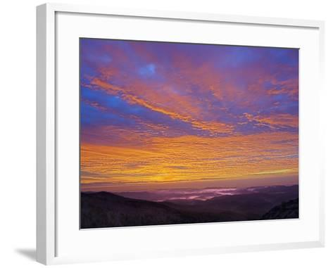 Colorful Clouds at Sunrise over the Southern Appalachian Mountains, North Carolina, USA-Adam Jones-Framed Art Print