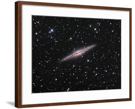 Edge-On View of the Ngc 891 Spiral Galaxy in Andromeda-Robert Gendler-Framed Art Print