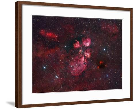 Ngc 6334, the Cat Paw Nebula-Robert Gendler-Framed Art Print