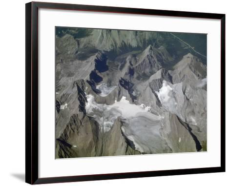 Aerial View of Glacial Landscape, Glaciers, Cirques and Horns, Canadian Rockies, Alberta-Marli Miller-Framed Art Print