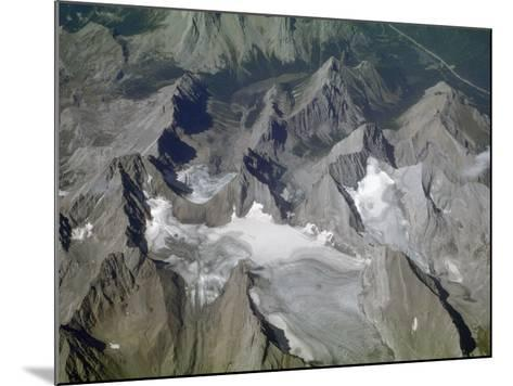 Aerial View of Glacial Landscape, Glaciers, Cirques and Horns, Canadian Rockies, Alberta-Marli Miller-Mounted Photographic Print
