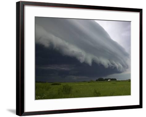 Shelf Cloud, Minnesota, USA-Clint Farlinger-Framed Art Print