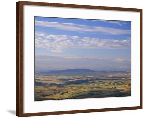 Rolling Hills of Palouse Farm Country, Eastern Washington, USA-Adam Jones-Framed Art Print