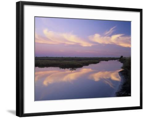 Sunrise, Merritt Island National Wildlife Refuge, Florida, USA-Adam Jones-Framed Art Print