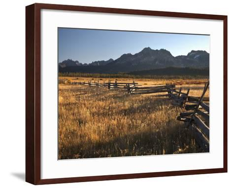 Stanley, Idaho Is the Gateway to the Sawtooth Mountains, Frank Church Wilderness-Sean Bagshaw-Framed Art Print
