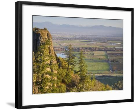 The Rogue Valley Is a Farming and Timber-Producing Region in Southwestern Oregon-Sean Bagshaw-Framed Art Print