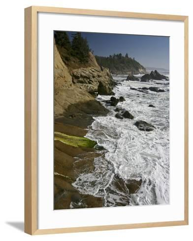 Cape Arago Is a Scenic Headland Jutting into the Pacific Ocean, Oregon, USA-Sean Bagshaw-Framed Art Print