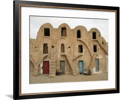 Traditional Ksar, Berber Village, Fortified Granary, Medenine, Tunisia-Gary Cook-Framed Art Print