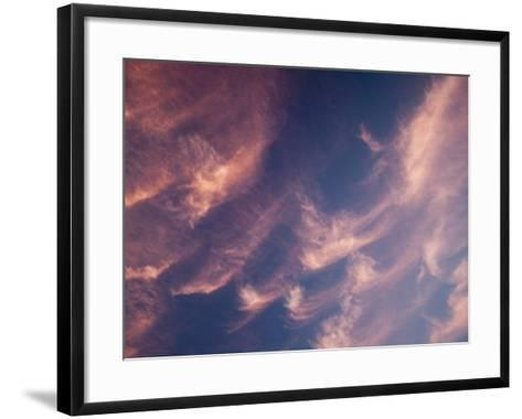 Cirrus Clouds at Sunset-Ashley Cooper-Framed Art Print