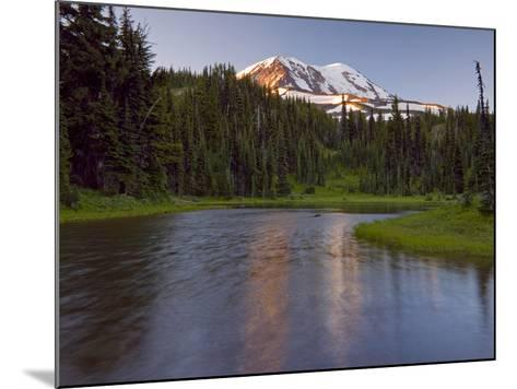 Mt. Adams Wilderness Area with a Coniferous Forest and a Tarn, Washington, USA-David Cobb-Mounted Photographic Print