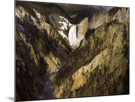 Lower Yellowstone Falls, Grand Canyon of the Yellowstone River, Yellowstone National Park, Wyoming-David Cobb-Mounted Photographic Print
