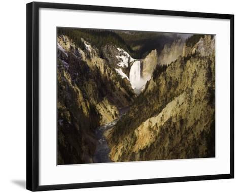 Lower Yellowstone Falls, Grand Canyon of the Yellowstone River, Yellowstone National Park, Wyoming-David Cobb-Framed Art Print