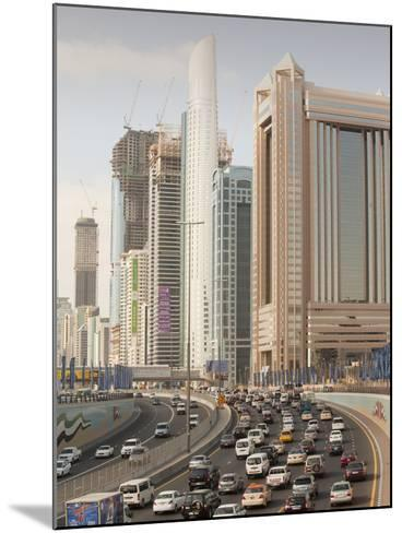 Traffic in Dubai City-Ashley Cooper-Mounted Photographic Print