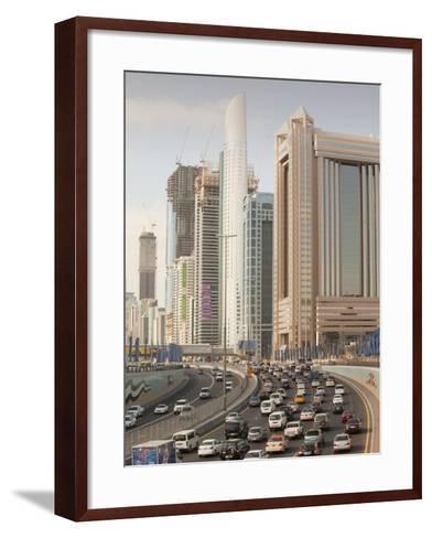 Traffic in Dubai City-Ashley Cooper-Framed Art Print