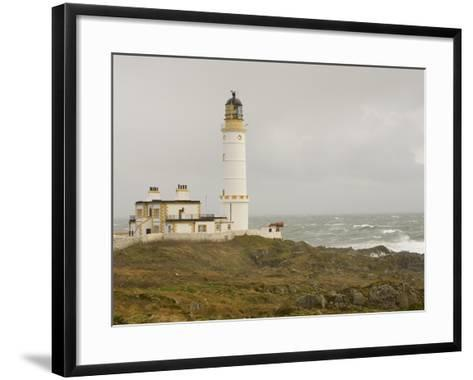 The Lighthouse on Corsewall Point on the Rhins of Galloway, Scotland, UK-Ashley Cooper-Framed Art Print