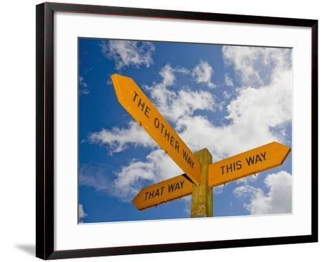 An Interesting and Humorous Signpost-Ashley Cooper-Framed Art Print