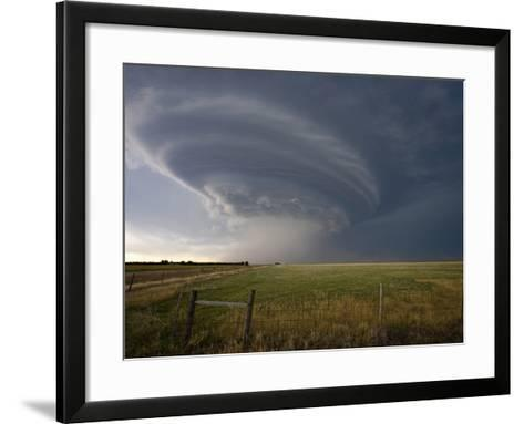 Rotating Wall Cloud from a Supercell in Eastern Colorado-Charles Doswell-Framed Art Print