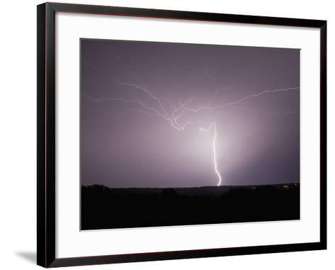 Intracloud and Cloud-To-Ground Lightning East of Norman, Oklahoma, USA-Charles Doswell-Framed Art Print