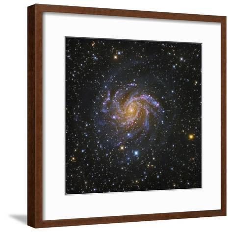 NGC 6946, Spiral Galaxy in Cepheus also known as the Fireworks Galaxy-Robert Gendler-Framed Art Print