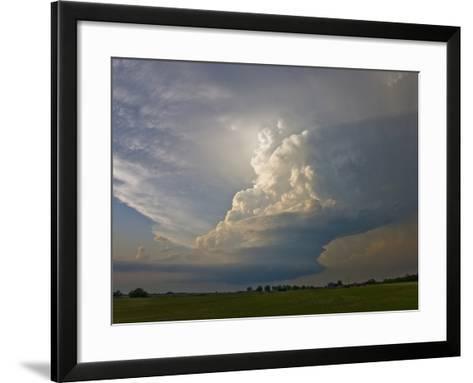 A Supercell Storm Near Oklahoma City, Oklahoma-Charles Doswell-Framed Art Print