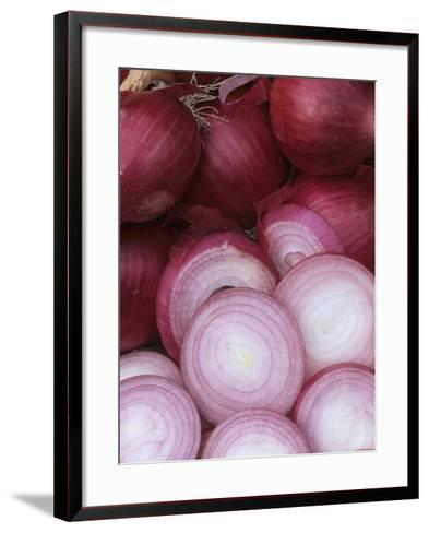 Ruby Ring' Red Storage Onions from a Home Garden-Wally Eberhart-Framed Art Print