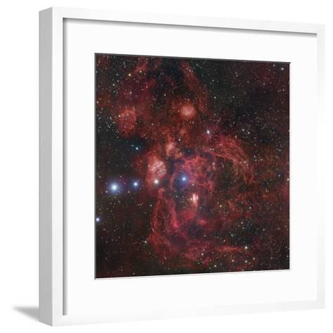 The Lobster Nebula in Scorpius, NGC 6357-Robert Gendler-Framed Art Print