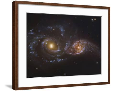 NGC 2207 and Ic 2163, Colliding Galaxies in Canis Majormosaic Data from the Hubble Legacy Archive-Robert Gendler-Framed Art Print