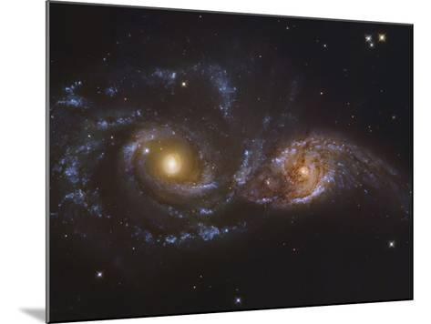 NGC 2207 and Ic 2163, Colliding Galaxies in Canis Majormosaic Data from the Hubble Legacy Archive-Robert Gendler-Mounted Photographic Print