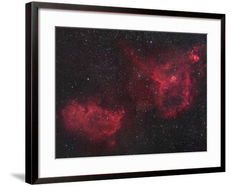 Heart and Soul Nebulae in Cassiopeia, Ici805 and Ici848-Robert Gendler-Framed Art Print