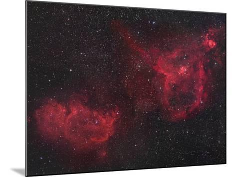 Heart and Soul Nebulae in Cassiopeia, Ici805 and Ici848-Robert Gendler-Mounted Photographic Print
