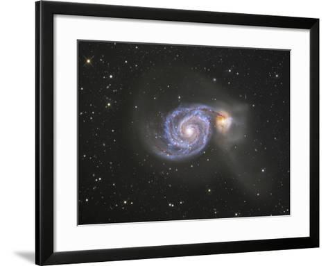 M51 (NGC 5194 and 5195) Colliding Galaxies in Canes Venatici-Robert Gendler-Framed Art Print