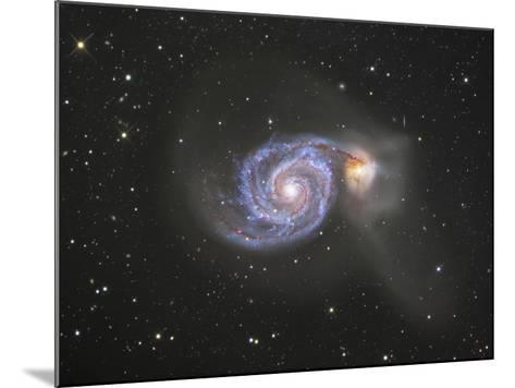 M51 (NGC 5194 and 5195) Colliding Galaxies in Canes Venatici-Robert Gendler-Mounted Photographic Print