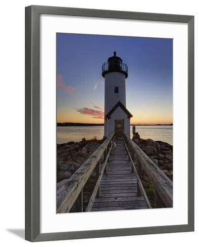 Annisquam Lighthouse at Sunset, Wigwam Point, Ipswitch Bay, Near Gloucester, Massachusetts-Adam Jones-Framed Art Print