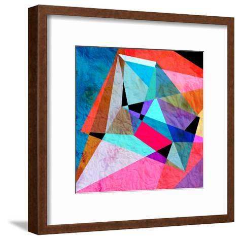 Abstract Watercolor Geometric Background-tanor27-Framed Art Print
