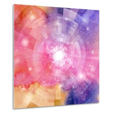 Abstract Colorful Background with Sun-tanor27-Metal Print