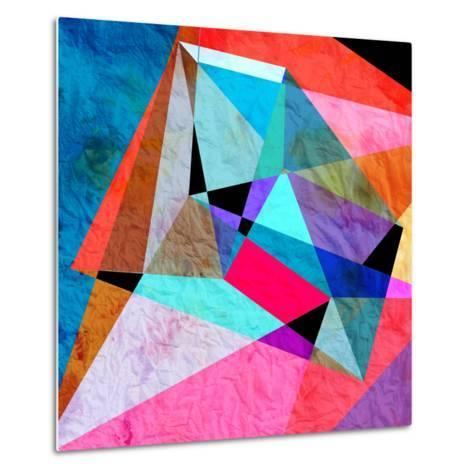 Abstract Watercolor Geometric Background-tanor27-Metal Print