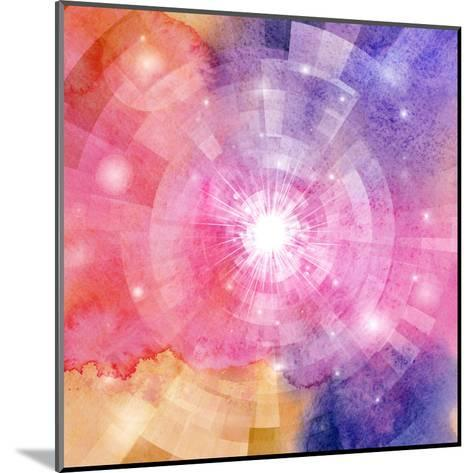 Abstract Colorful Background with Sun-tanor27-Mounted Art Print