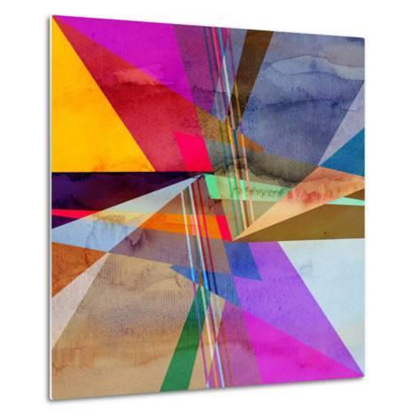 Abstract Colorful Watercolor Background-tanor27-Metal Print
